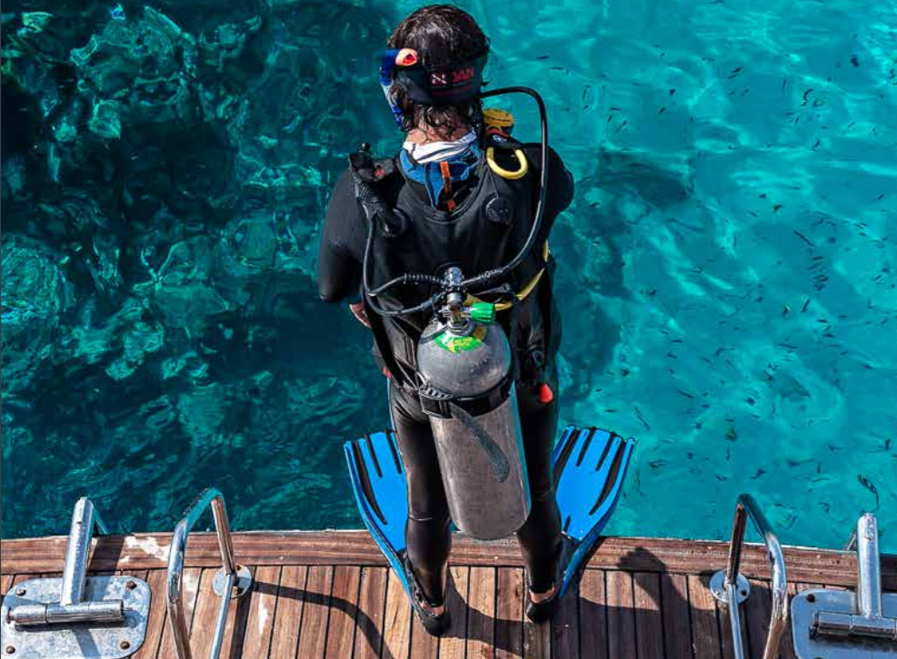 Buceo deportivo con escafandra autónoma