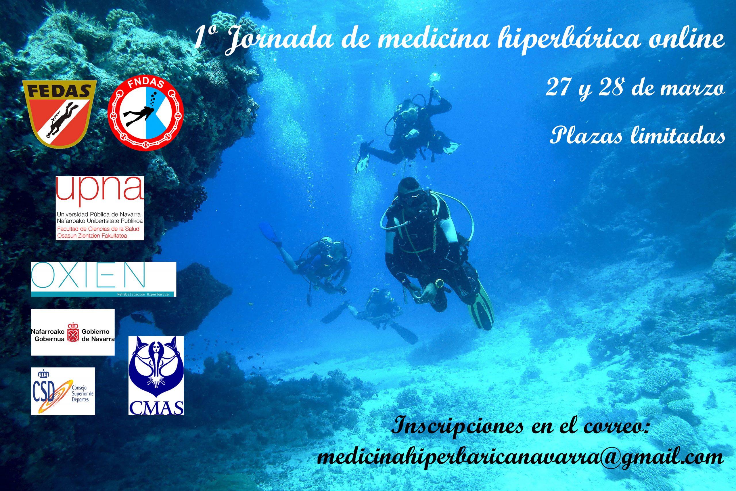 Jornadas On-Line de Medicina Hiperbárica para instructores y Federados FEDAS