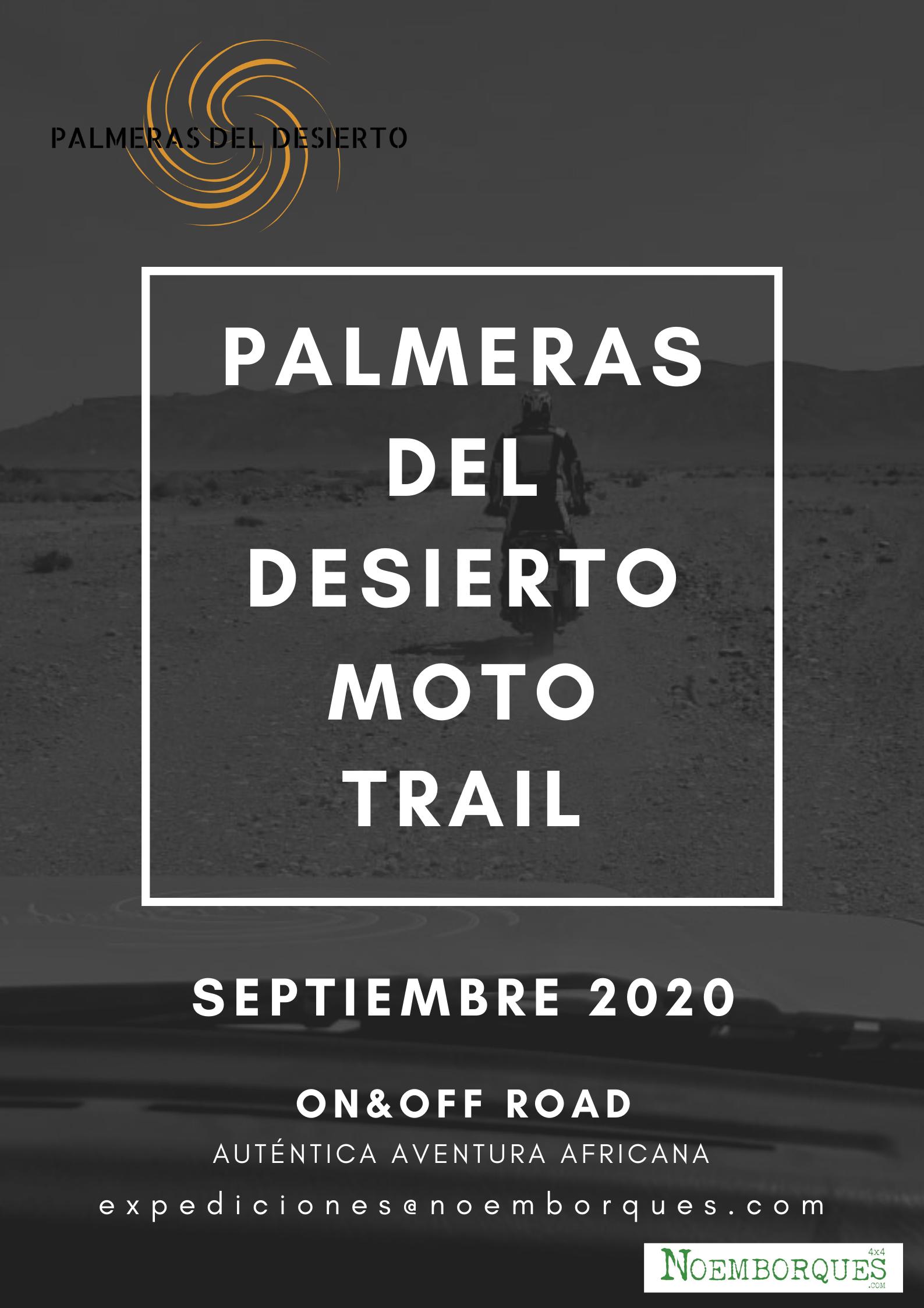 PALMERAS DEL DESIERTO MOTO TRAIL 2020
