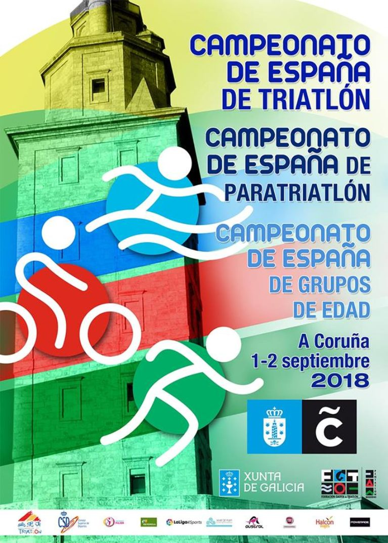 CAMPEONATO DE ESPAÑA DE TRIATLON (A CORUÑA 1-2 SEPTIEMBRE 2018)