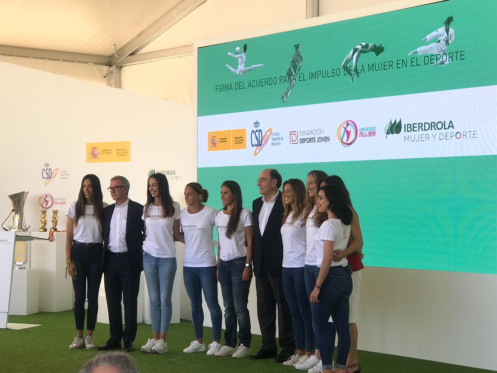 Renovación del acuerdo para impulsar a la mujer en el ámbito deportivo entre el CSD e IBERDROLA