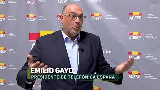 Emilio Gayo, Presidente de Telefónica España, miembro del Comité Asesor del Deporte Español (CADE)
