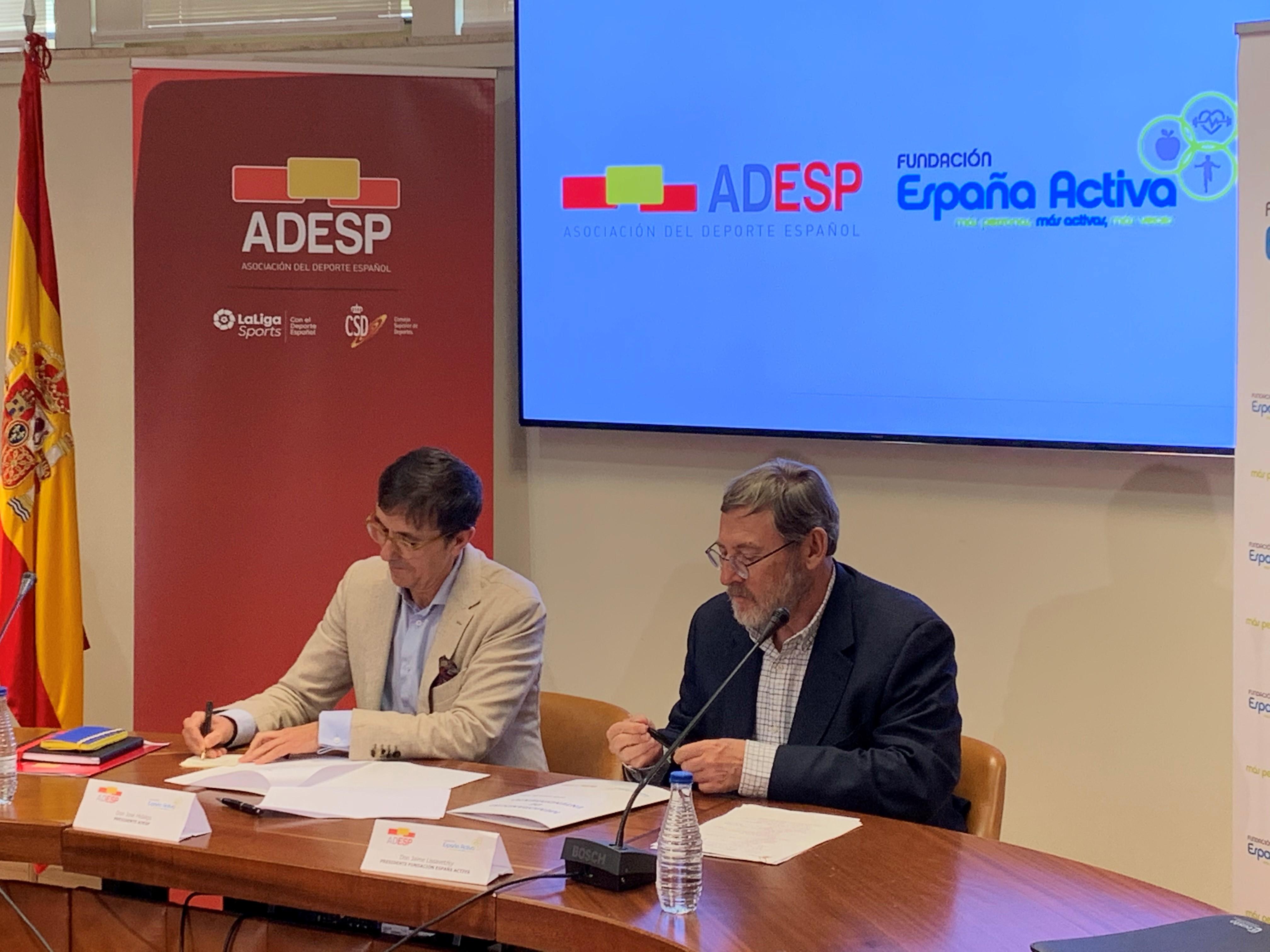 Acuerdo entre Fundación España Activa y la Asociación del Deporte Español