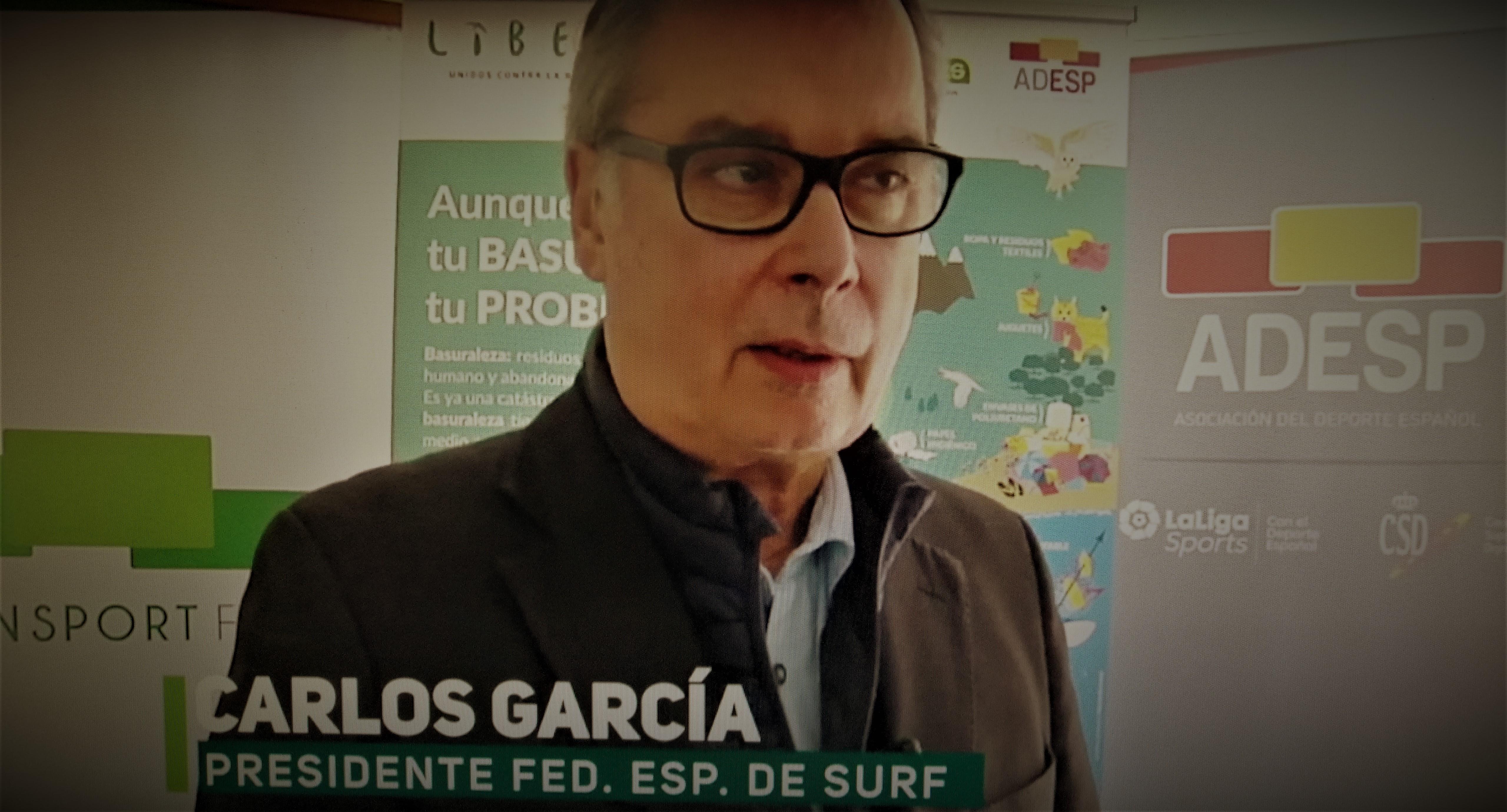 Carlos García, Presidente de la Federación Española de Surfing, en el I SIMPOSIO DE FEDERACIONES DE DEPORTES DE AGUA