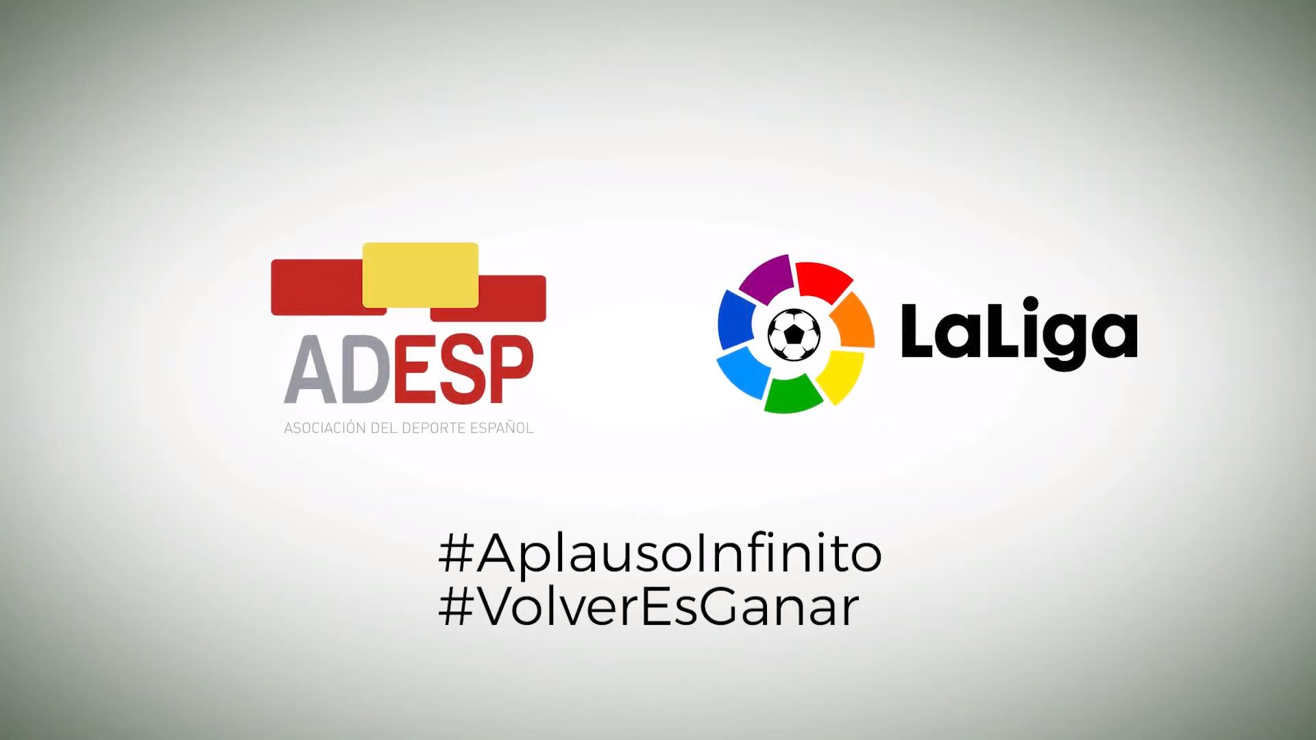 ADESP se suma a la campaña #Aplausoinfinito de la @LaLiga #VolverEsGanar
