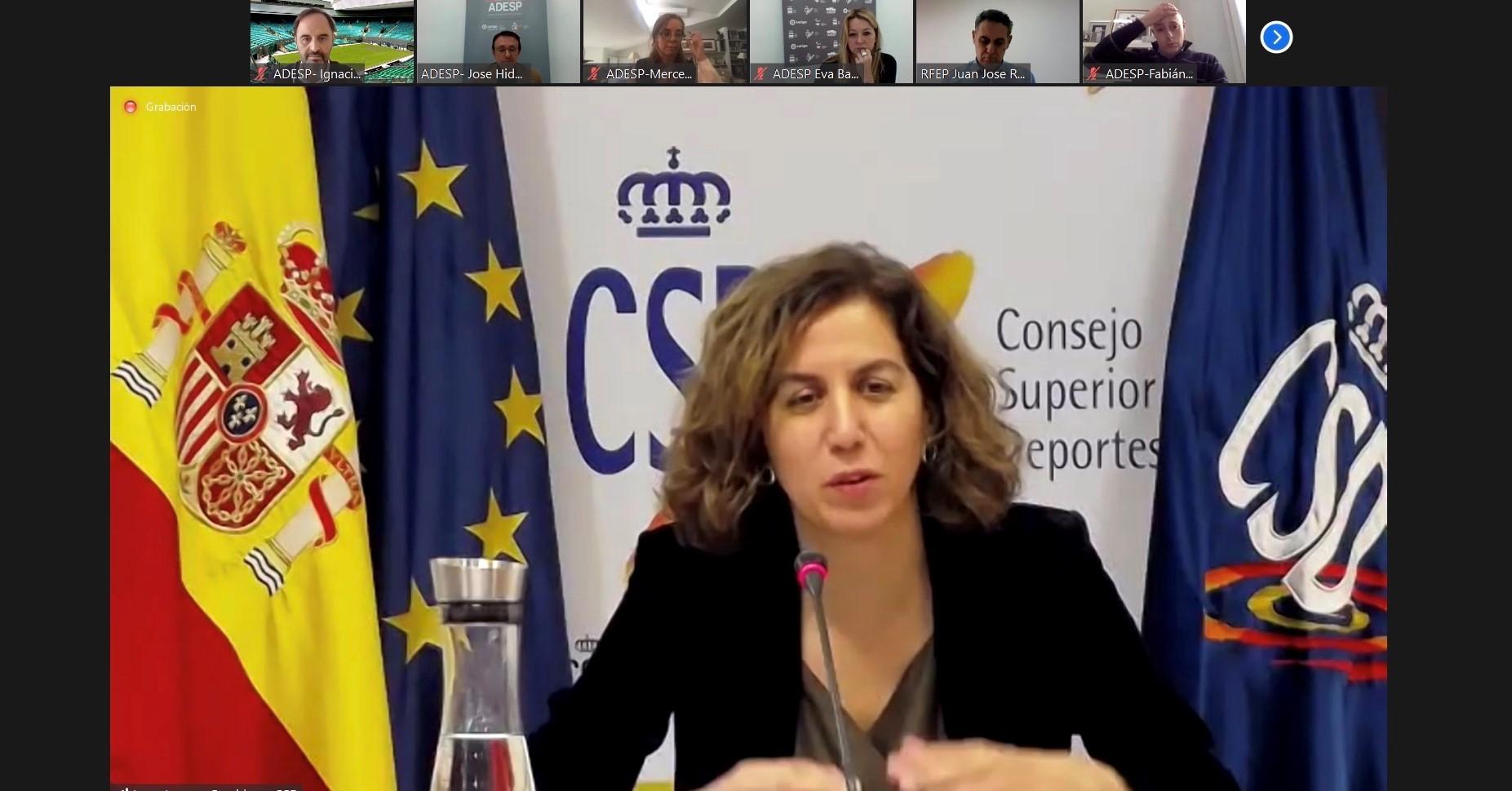 Irene Lozano expone sus líneas maestras de colaboración con las Federaciones Deportivas Españolas de cara al nuevo año, en la Asamblea de ADESP