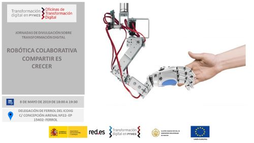 Jornada Robótica Colaborativa. Compartir es crecer. Ferrol 08/05/2019