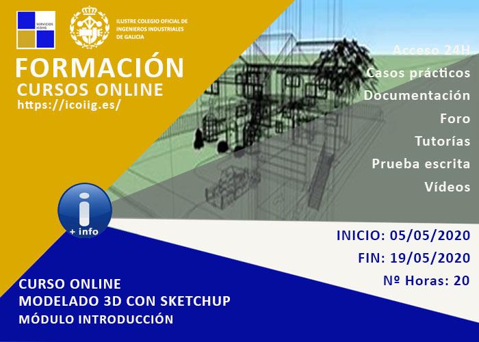 Curso online modelado 3D con sketchup. 05/05/2020