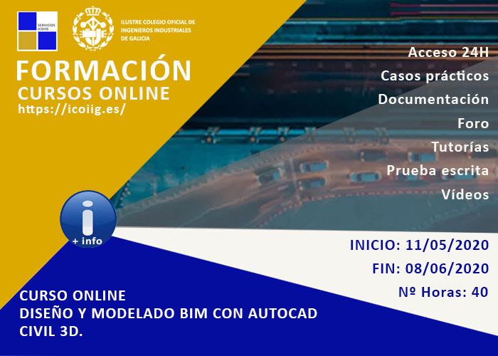 Curso online diseño y modelado BIM con autocad civil 3D. 11/05/2020