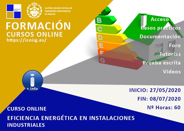 Curso online eficiencia energética en las instalaciones industriales. 27/05/2020