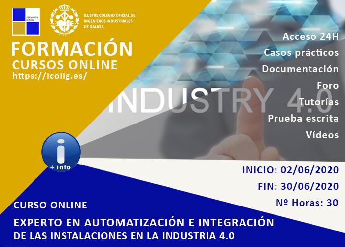 Curso online experto en automatización e integración de las instalaciones en la industria 4.0. 02/06/2020