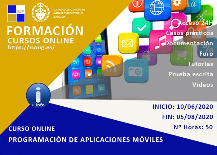 Curso online programación de aplicaciones móviles. 10/06/2020