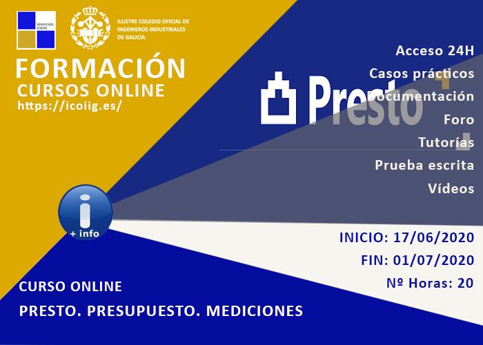 Curso online Presto presupuesto y mediciones. 17/06/2020