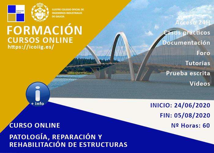 Curso online patología, reparación y rehabilitación de estructuras. 24/06/2020