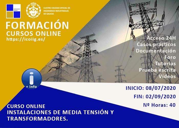 Curso Online de instalaciones de media tensión y transformadores. 08/07/2020