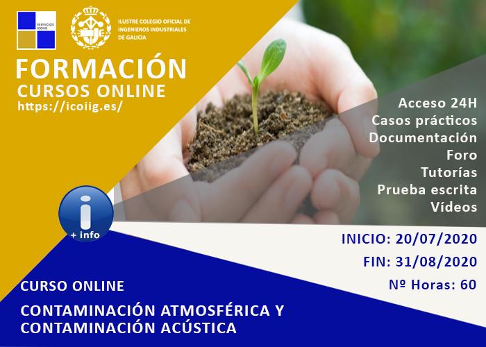 Curso Online contaminación atmosférica y contaminación acústica. 20/07/2020