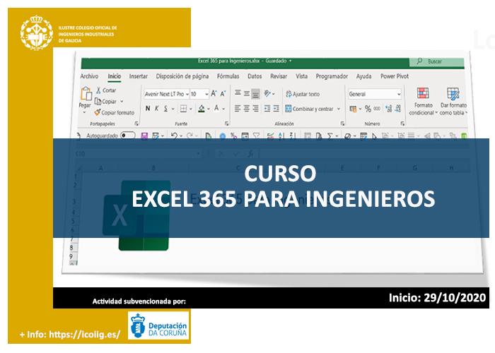 Excel 365 para ingenieros.29/10/2020
