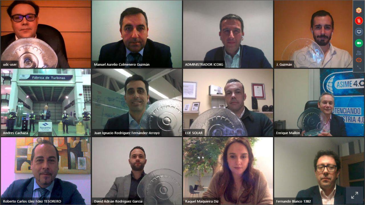 EL ICOIIG celebró la entrega de los VII Premios Galicia de Energía 2020 en un encuentro virtual