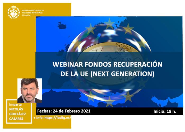 Webinar sobre fondos de recuperación de la UE ( Fondos Next Generation). 24/02/2021
