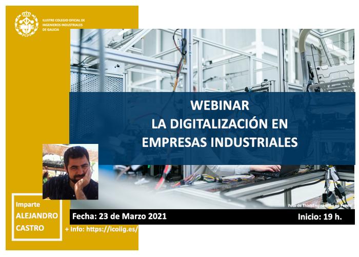 Webinar sobre la digitalización en las empresas industriales. 23/03/2021