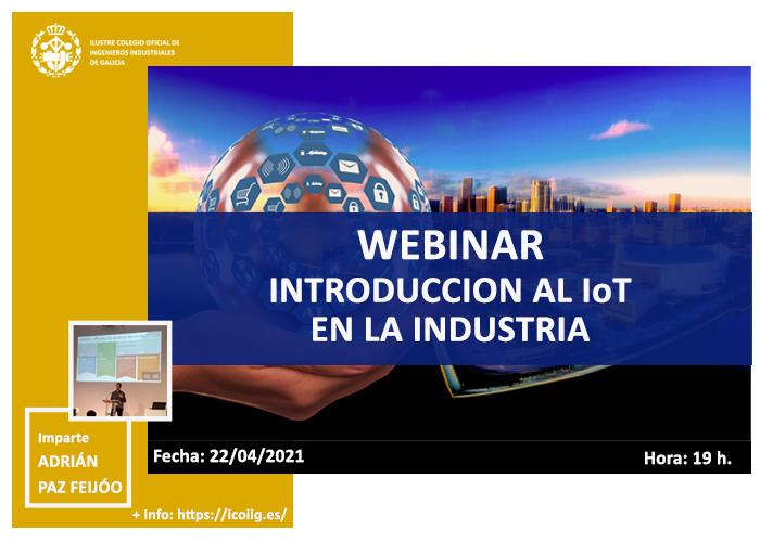 Webinar Introducción al IoT en la industria. 22/04/2021