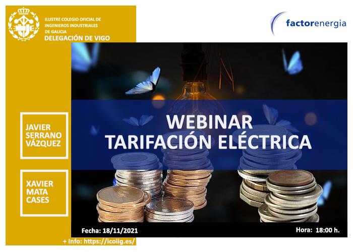 Webinar sobre Tarifación Eléctrica | ICOIIG