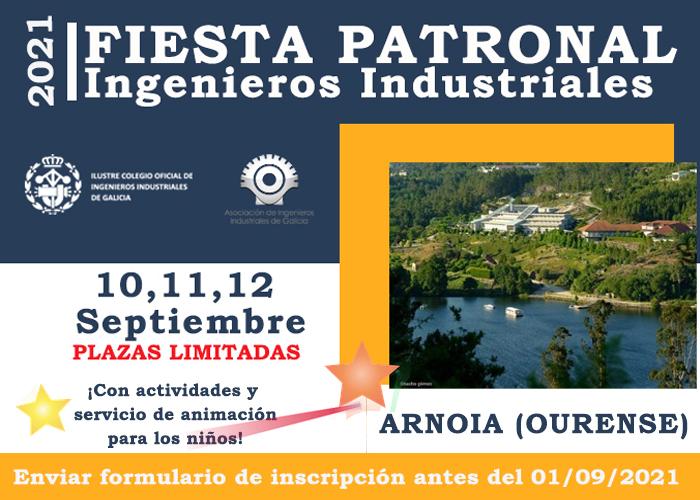 FIESTA PATRONAL 2021. Arnoia (Ourense) 10, 11 y 12 de septiembre.