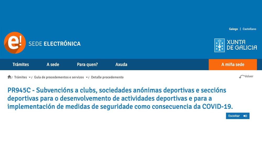 Subvención para Clubes en Galicia