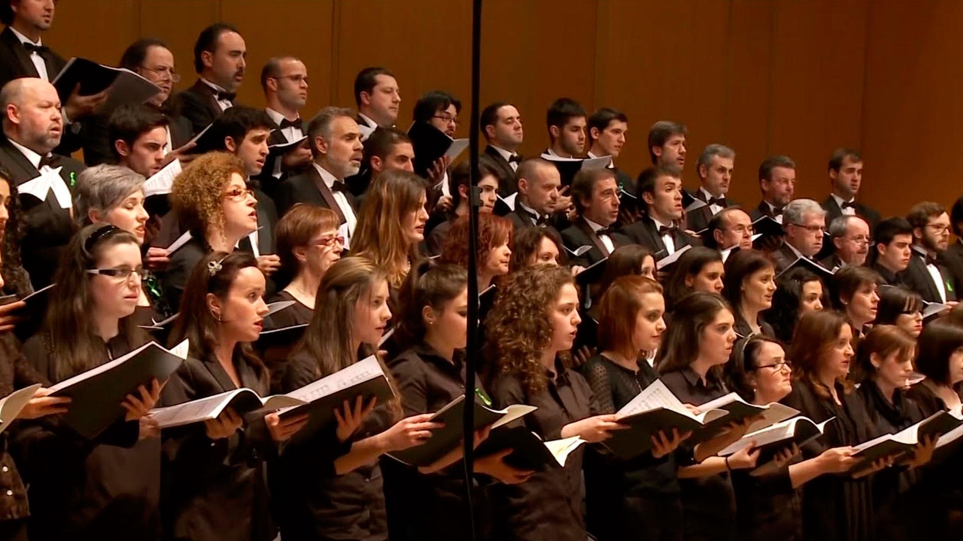 El Coro de la OSG canta en el Mesías Participativo que organiza la Fundación La Caixa en Santiago de Compostela