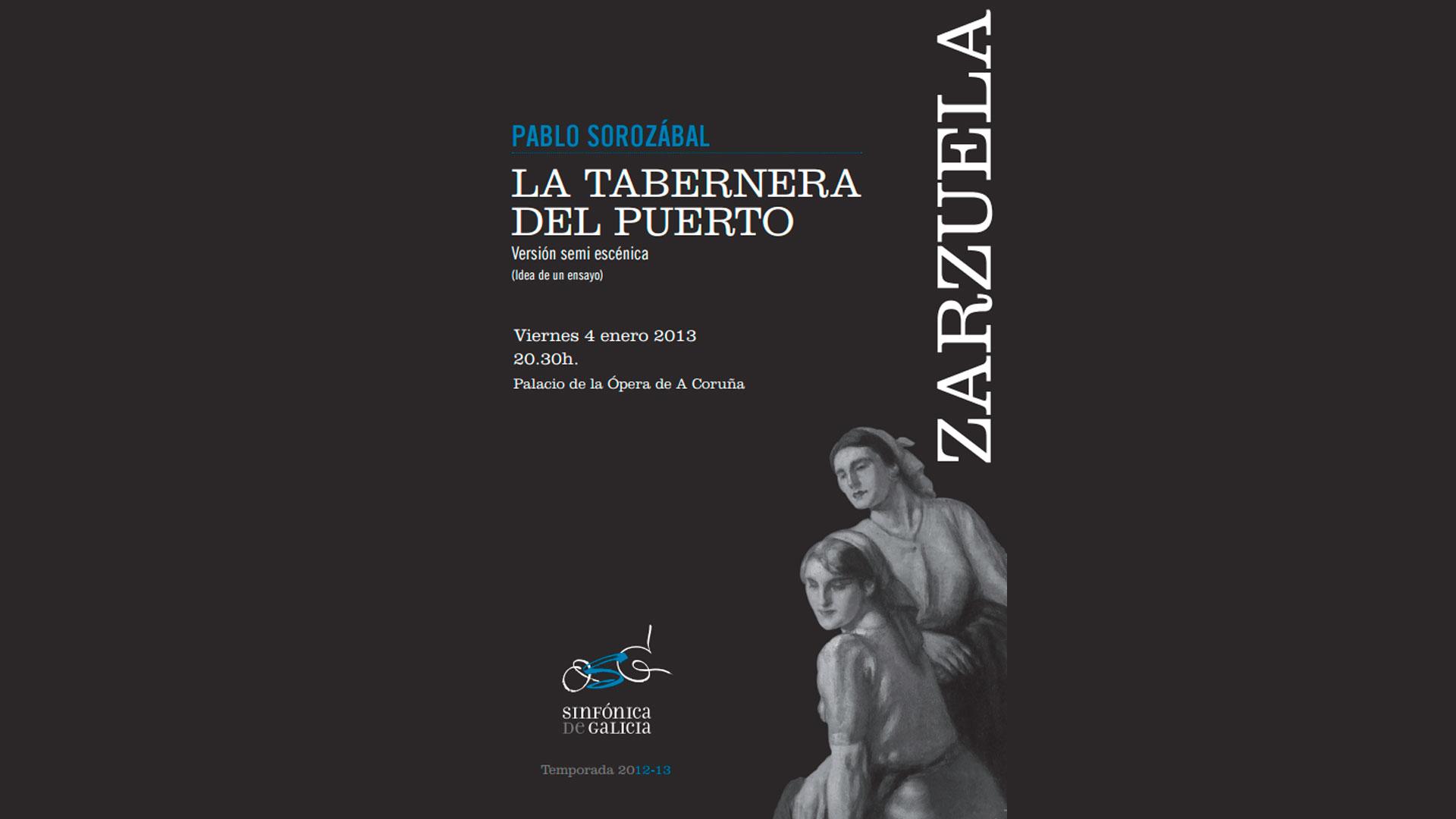 Ya está disponible el programa de mano de La Tabernera del Puerto de la función del próximo 4 de enero.