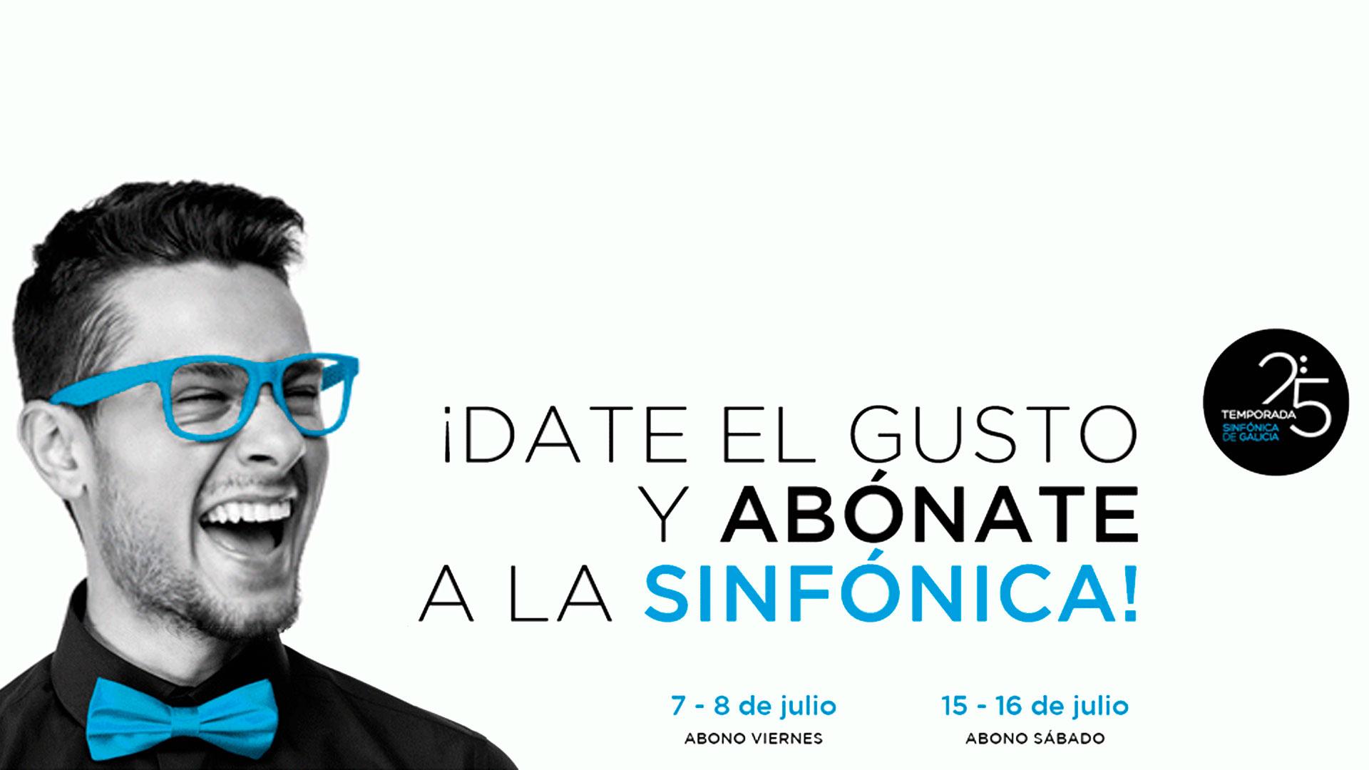 La Sinfónica de Galicia pone a la venta nuevos abonos de los ciclos Abono Viernes y Abono Sábado para la temporada 2016-2017, con la que celebrará su veinticinco aniversario