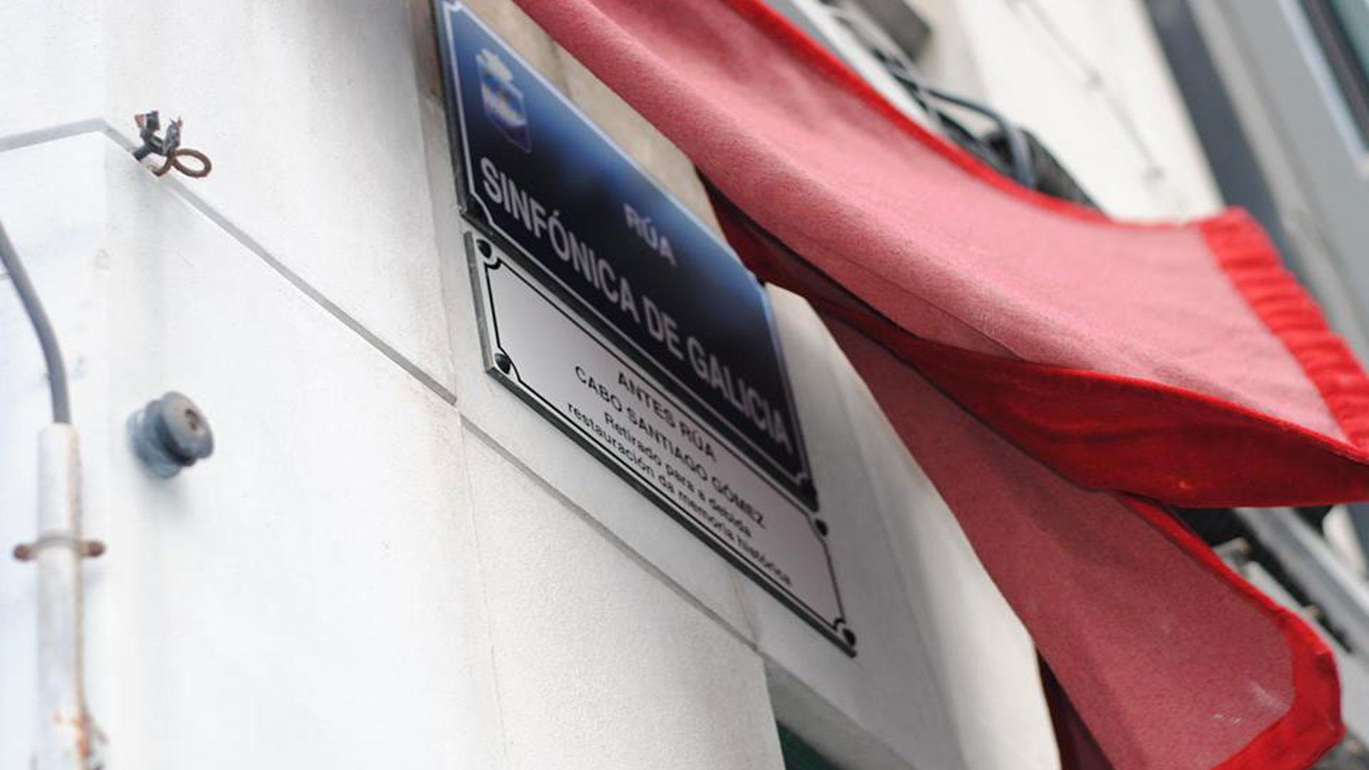 La Sinfónica de Galicia hace historia con su nombre en una calle de la ciudad de A Coruña