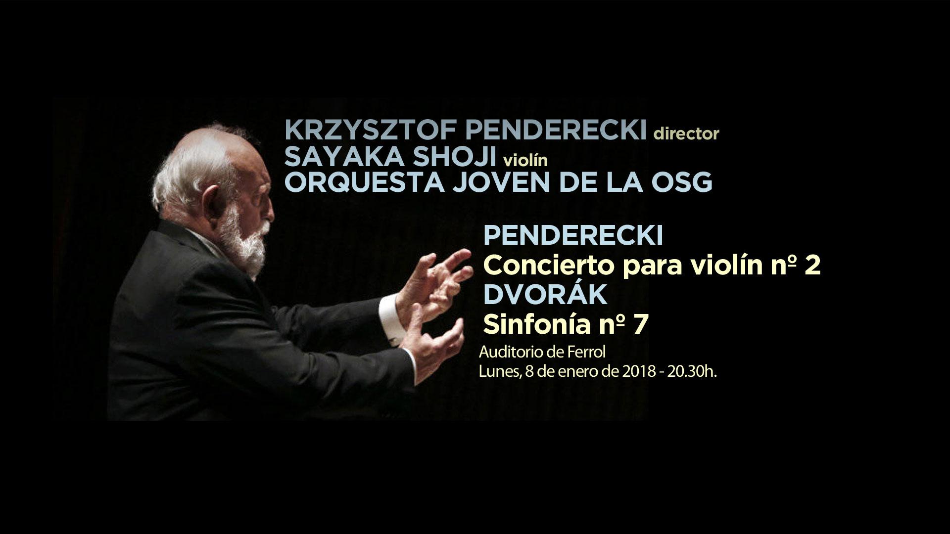 Krzysztof Penderecki se pone al frente de la Orquesta Joven de la OSG para su primer concierto del año