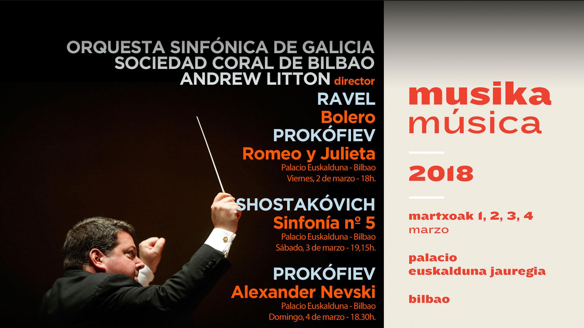 La OSG regresa con tres conciertos al festival Musika-Música de Bilbao por segundo año consecutivo