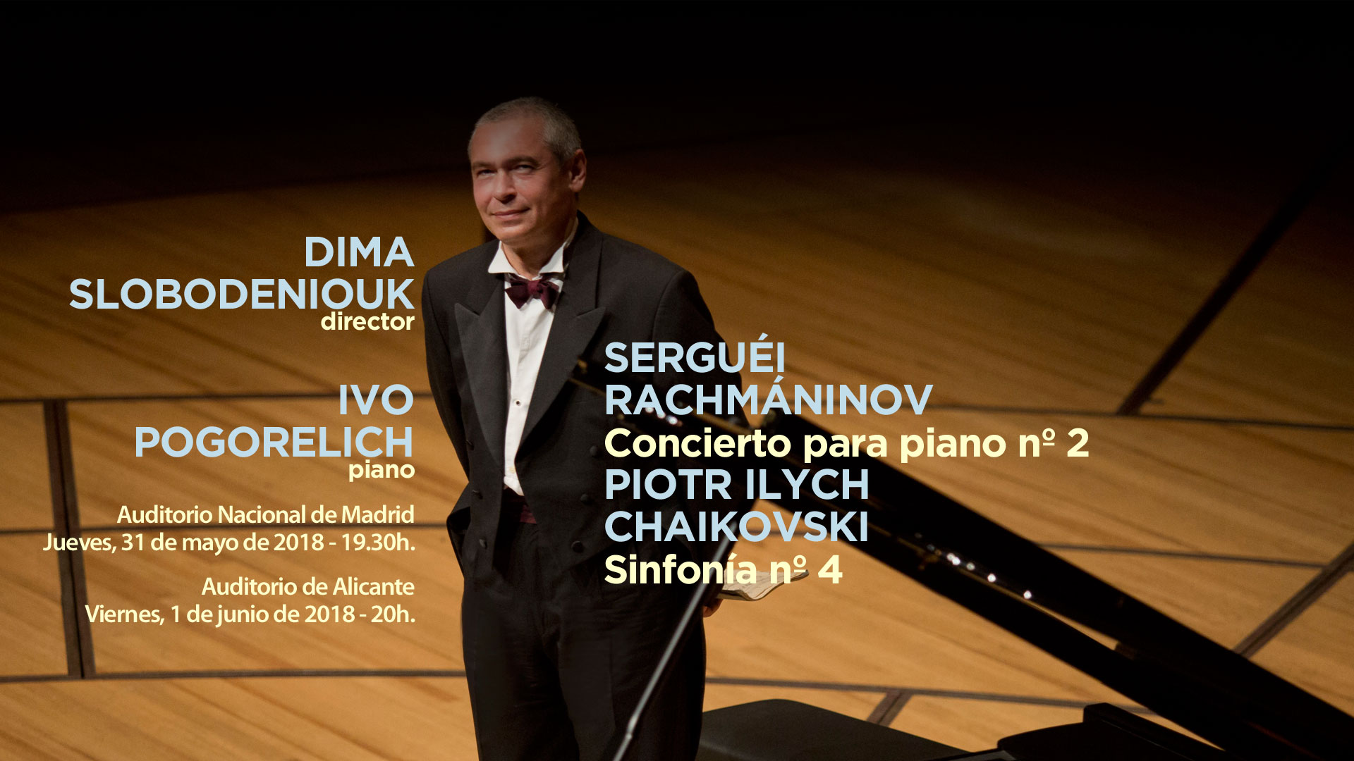 La Sinfónica de Galicia ofrece conciertos en Madrid y Alicante con el mito del piano Ivo Pogorelich