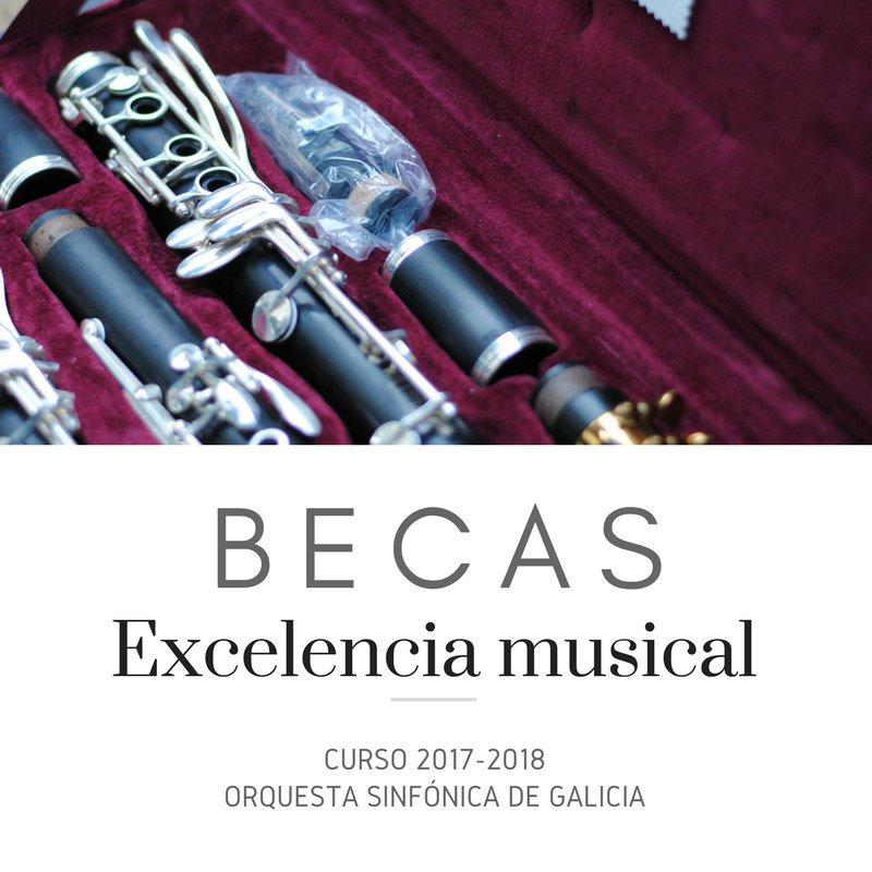 Listado provisional de concesión de Becas a la Excelencia Musical 17-18