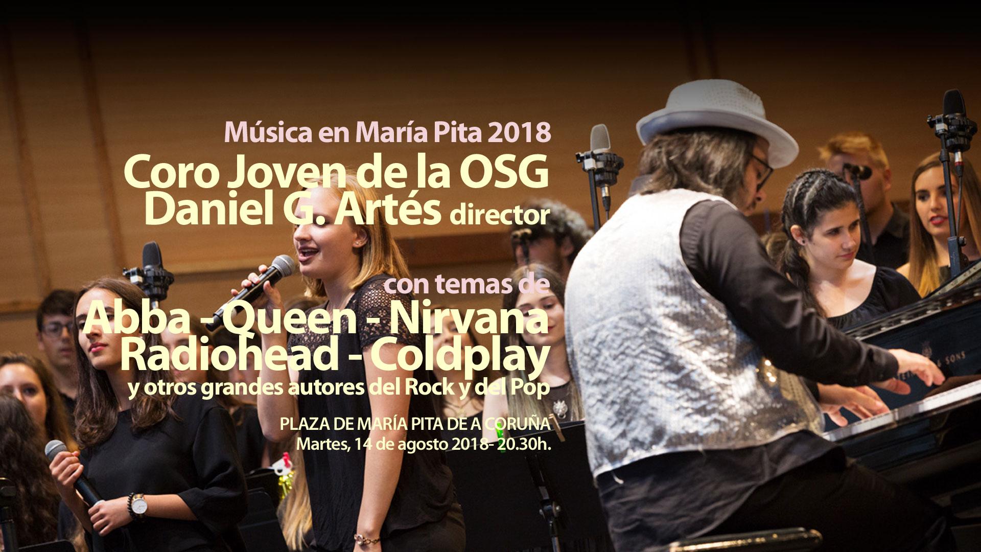 De Carmina Burana a Nirvana: la OSG y su Coro Joven entre la clásica y el rock en María Pita 2018