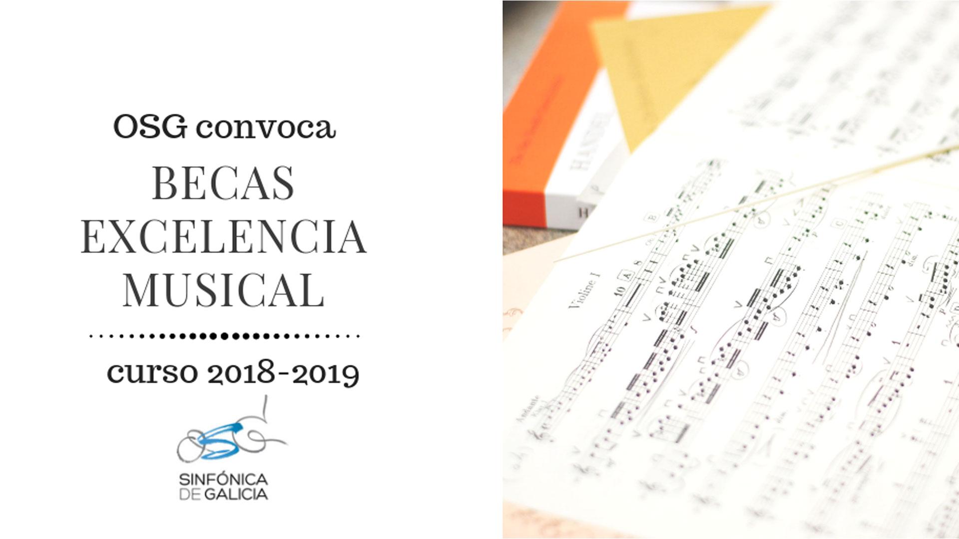 La OSG convoca las bolsas de excelencia musical