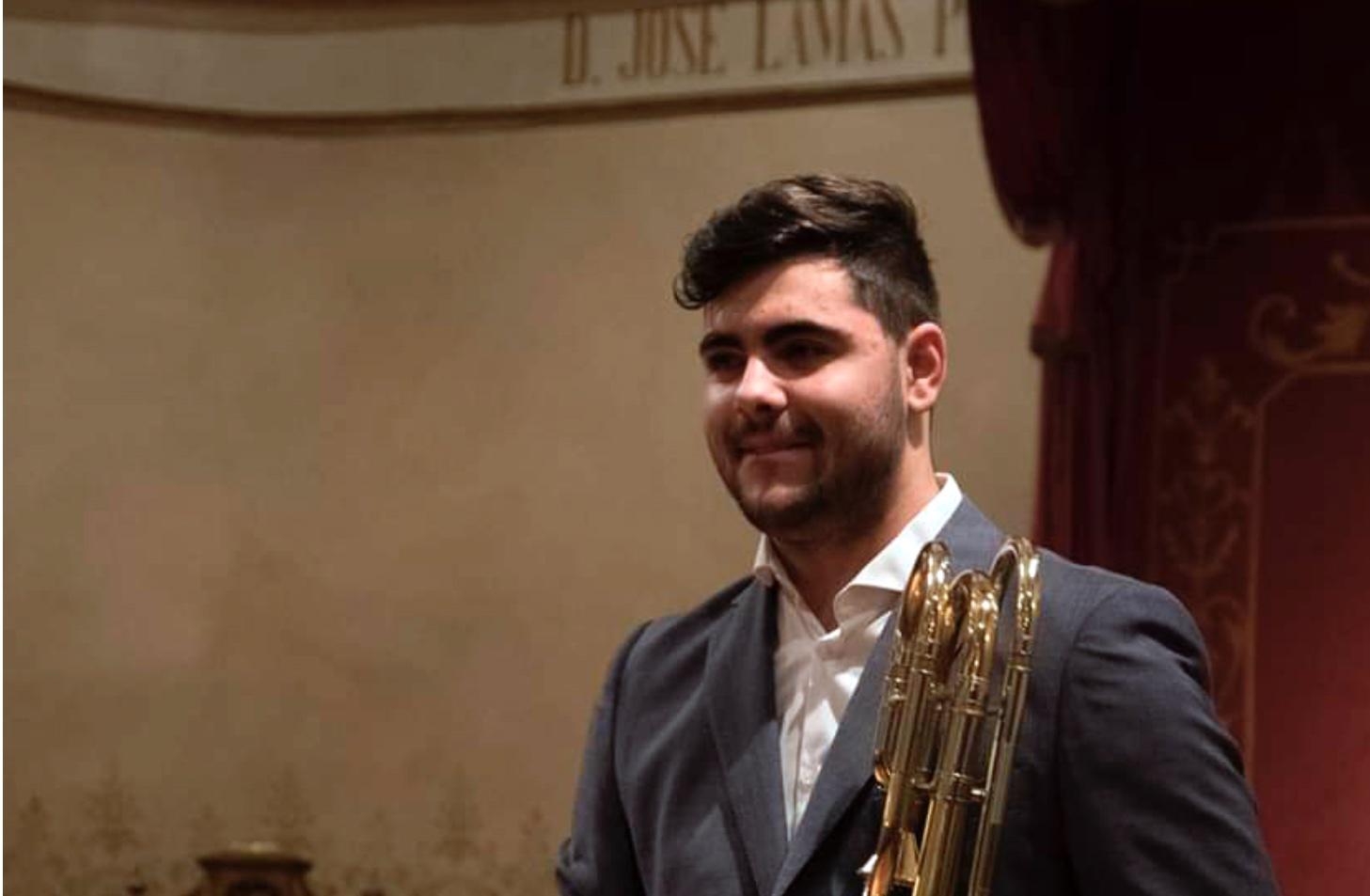 Óscar Vázquez Valiño, nuevo trombón bajo de la Sinfónica de Galicia