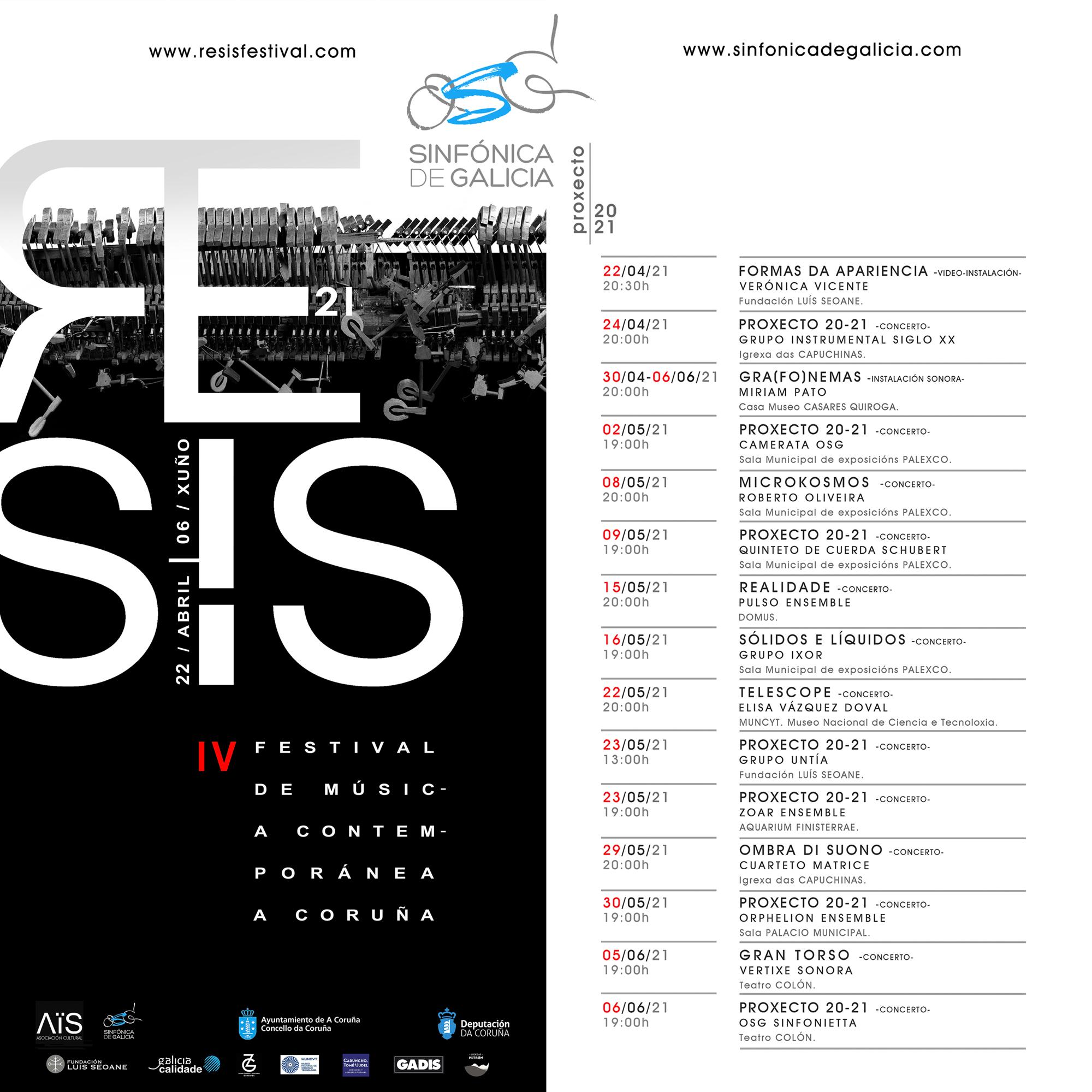 La OSG estrena doce obras de otros tantos autores gallegos en el IV Festival Resis